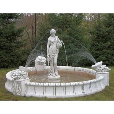 Springbrunnen / Brunnenbecken - mit Figur (wählbar)