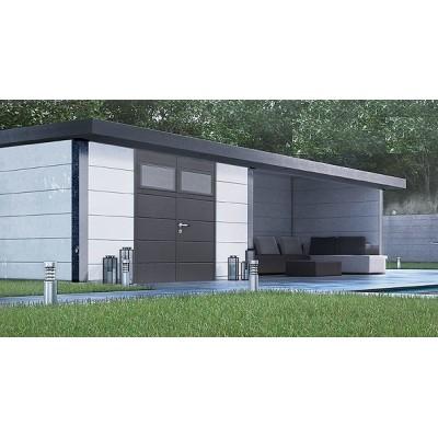 Metallhaus Eleganto 3024 + Lounge (rechts)