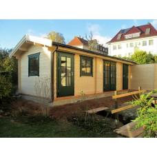 Referenz 32- Gartenhaus mit Holzdepot