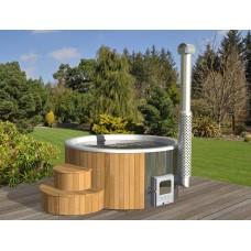 Badebottich Hot Tub Ø 200 de luxe (mit KS-Einsatz + Abdeckhaube)