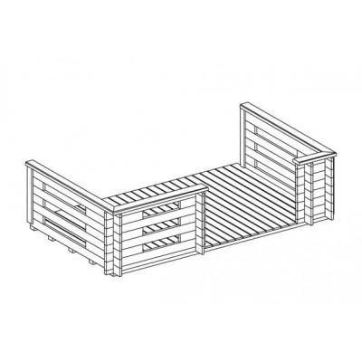 Holzterrasse 44.5 asymm.
