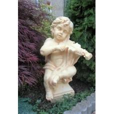 """Steinfigur """"Engel mit Violine"""""""
