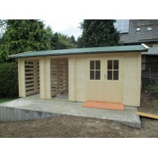 Referenz 52 - Gartenhaus mit Kaminholzdepot